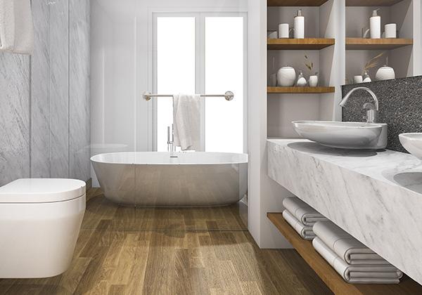 Badkamermeubels en spiegelkasten plaatsen rondom zuidland